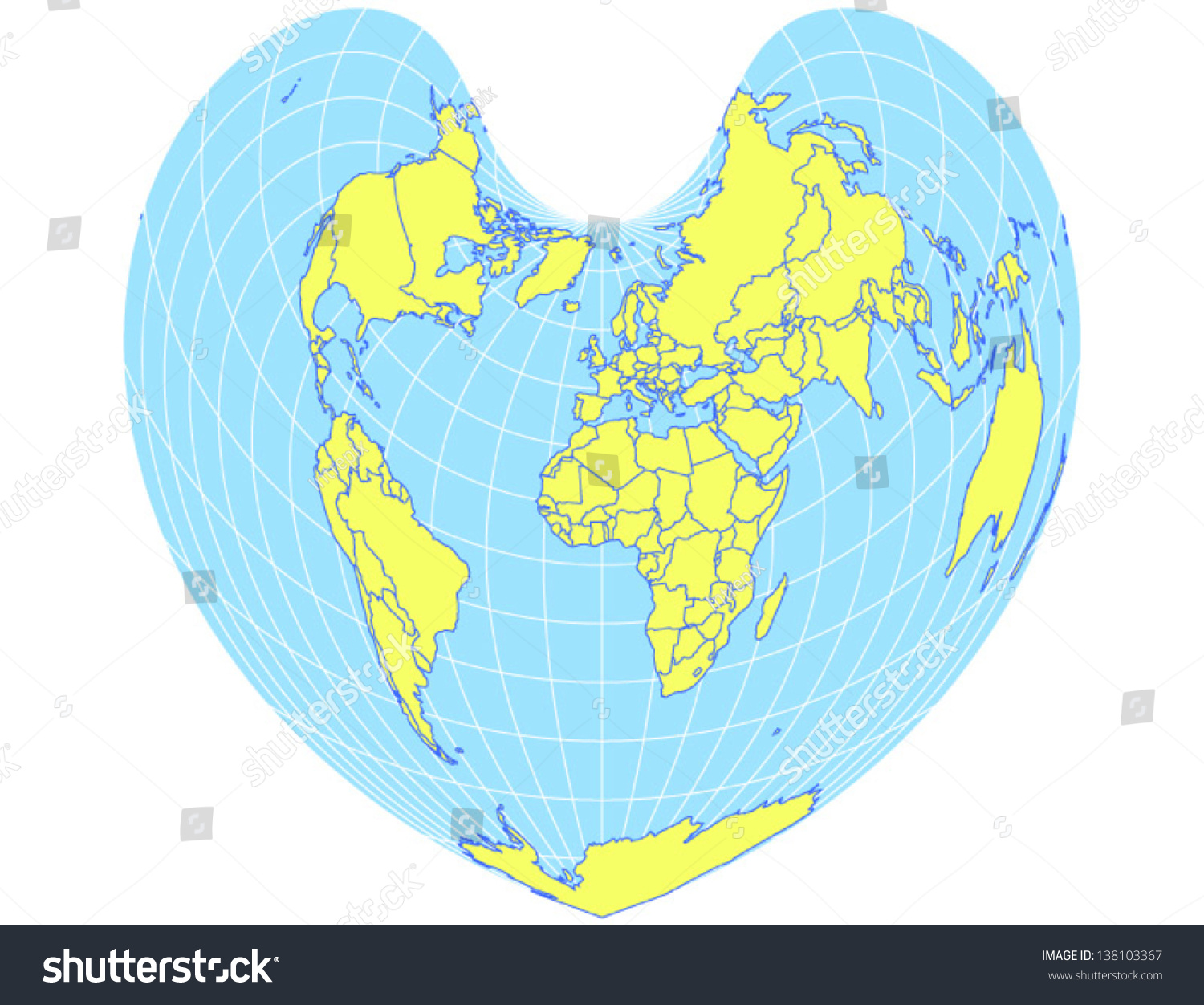 equal area projection map