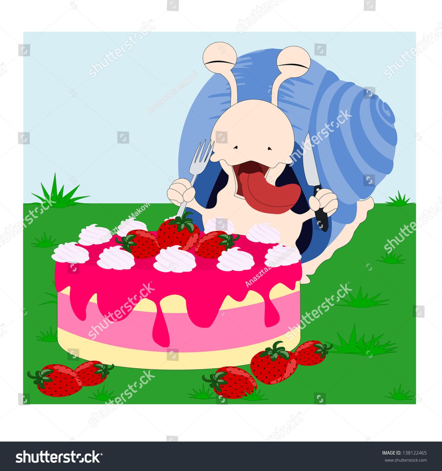 Happy Birthday Snail Stock Vector Royalty Free 138122465