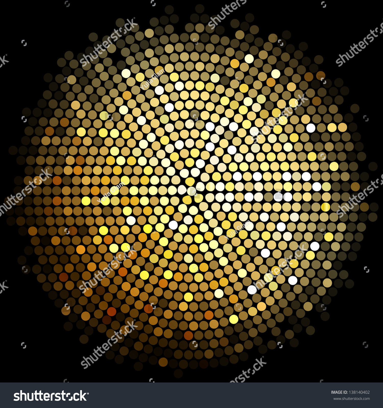 Vector Gold Disco Lights Background Stock Vector 138140402 ...