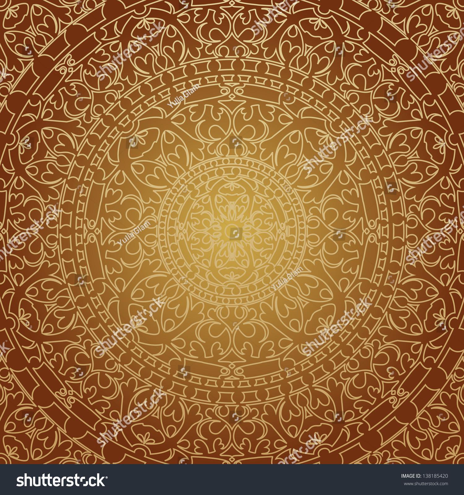 Vector illustration oriental brown decoration stock vector for Decoration orientale