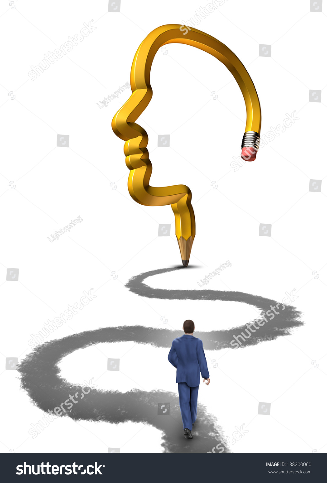 planning your future strategic career plan stock illustration planning your future a strategic career plan as a businessman walking on a path drawn
