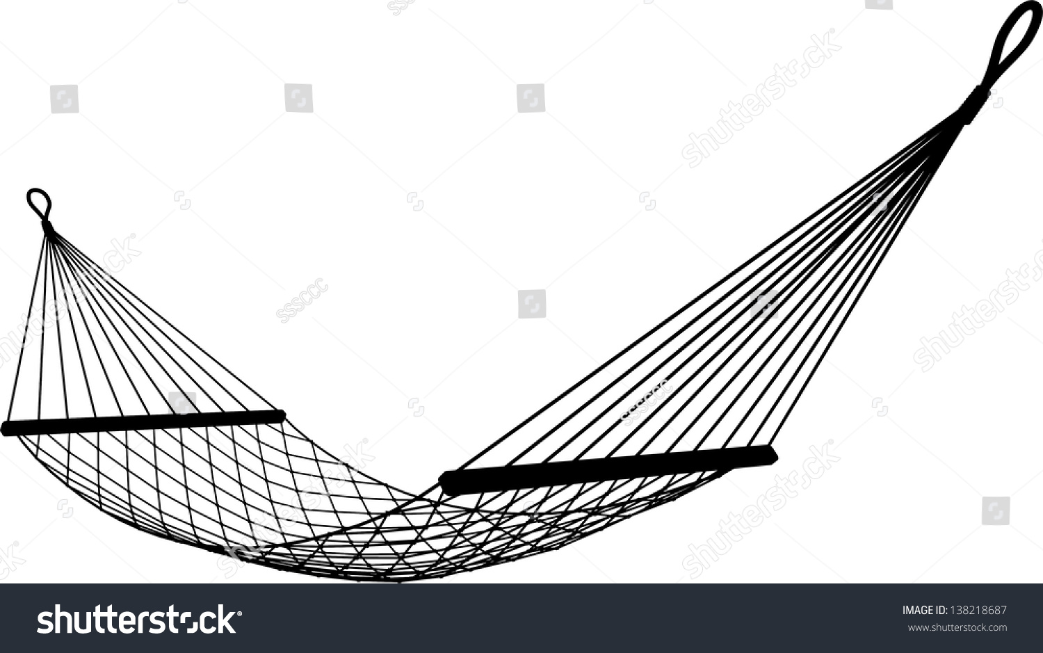Hammock On White Background Stock Vector 138218687 - Shutterstock