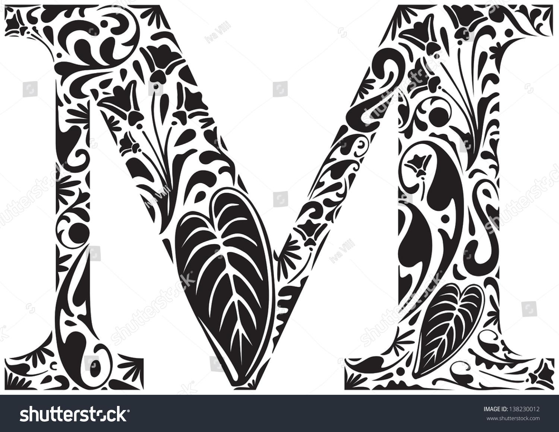 Free Swirl Letter M
