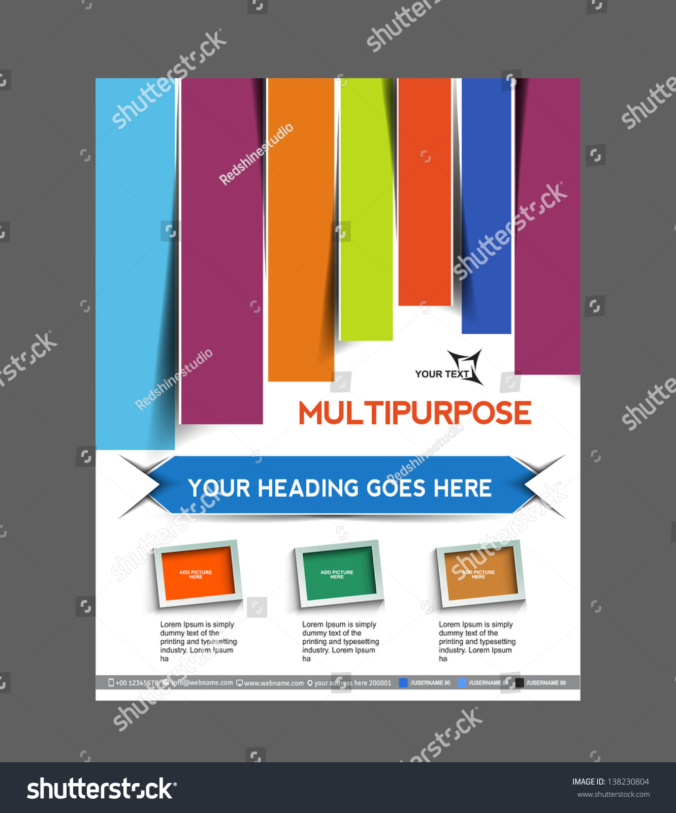 vector business brochure flyer magazine cover stock vector vector business brochure flyer magazine cover poster template