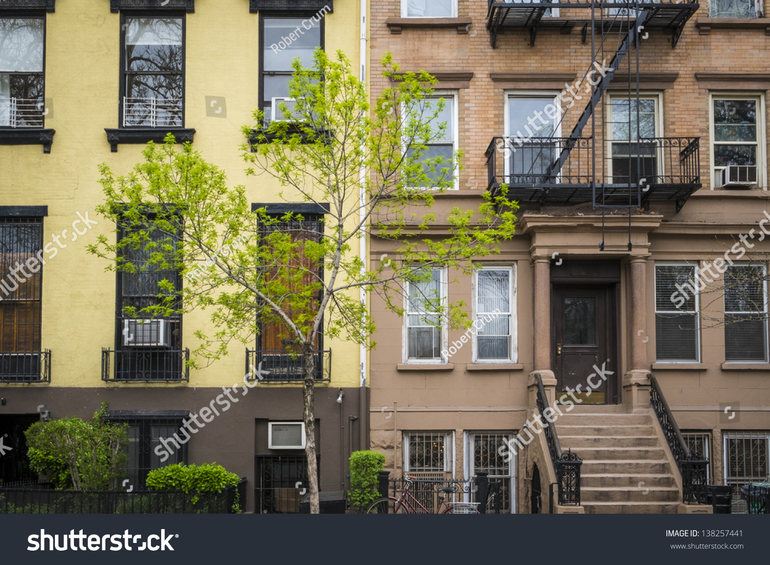 Old Apartment Building With Fire Escapes, Manhattan, New ...