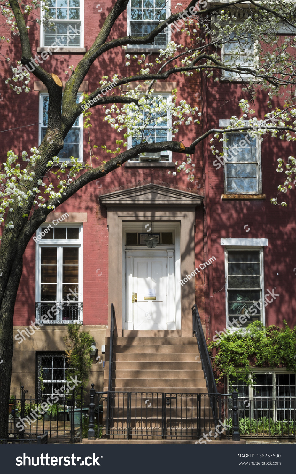 Old apartment building greenwich village manhattan stock for Nyc greenwich village apartments