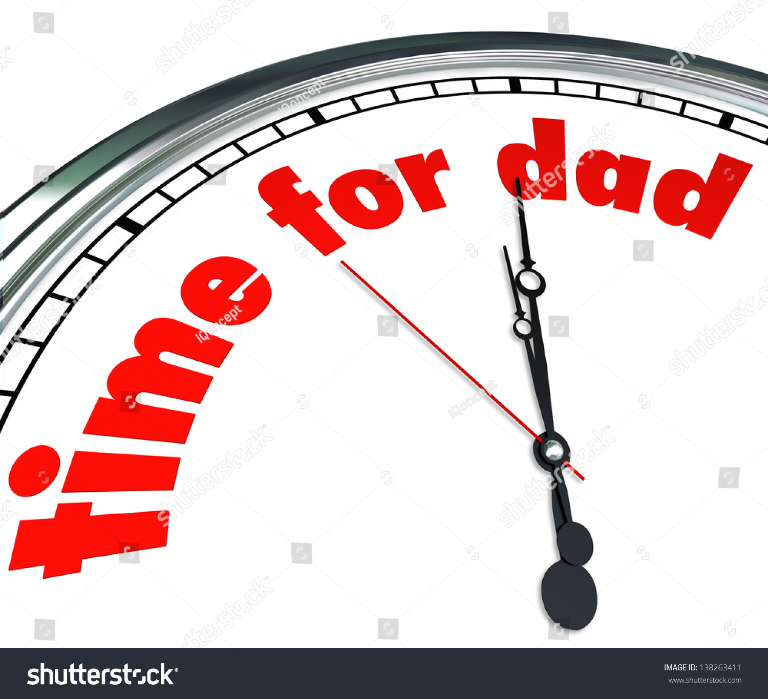 Words Time Dad On Clock Face Stock Illustration 138263411 ...