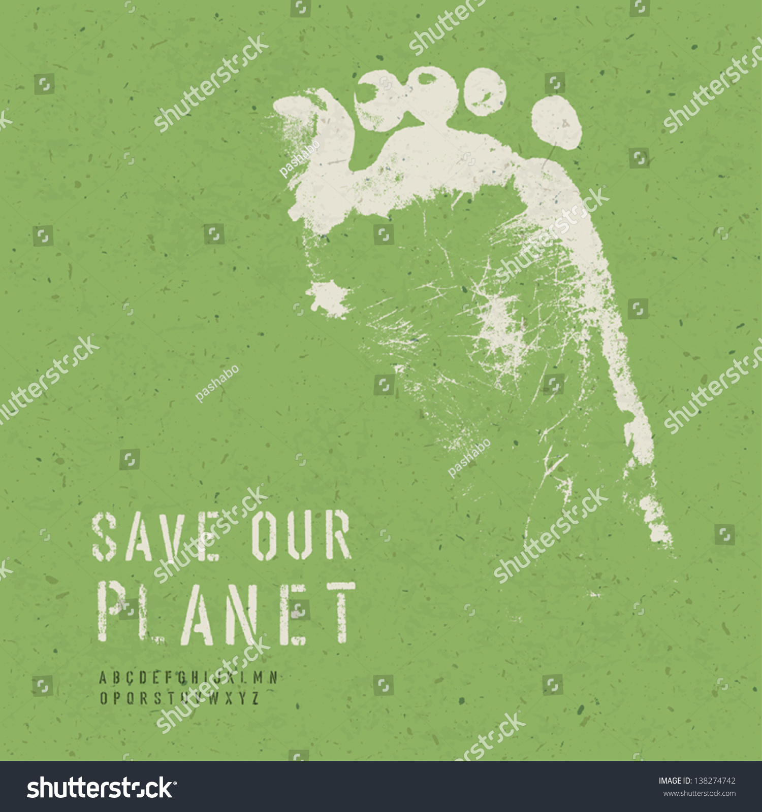 Poster design nature - Nature Conservation Poster With Alphabet For Headline Text Vector Eps10
