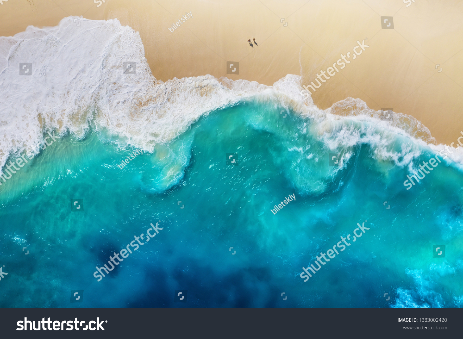 Coast as a background from top view. Turquoise water background from top view. Summer seascape from air. Nusa Penida island, Indonesia. Travel - image #1383002420