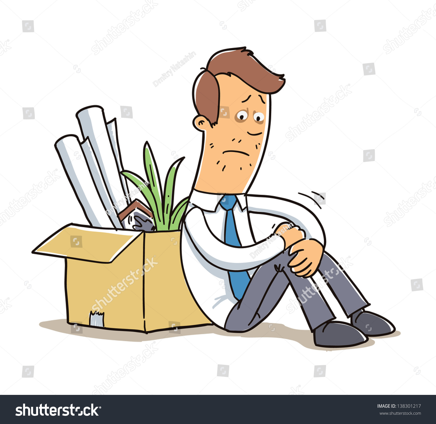 office worker fired job cartoon illustration stock vector office worker fired from job cartoon illustration isolated on white background