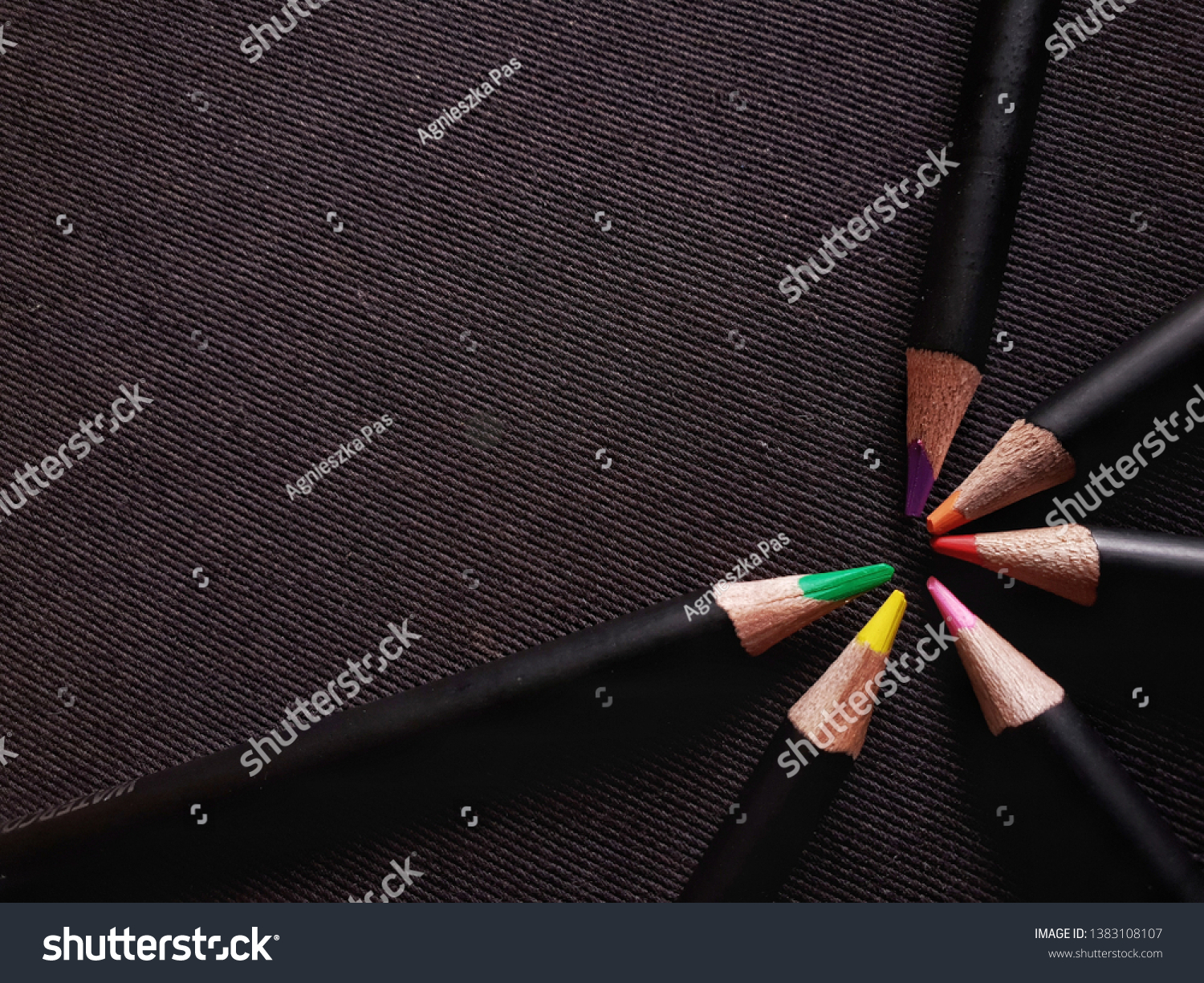 stock-photo-set-of-color-pencils-on-blac
