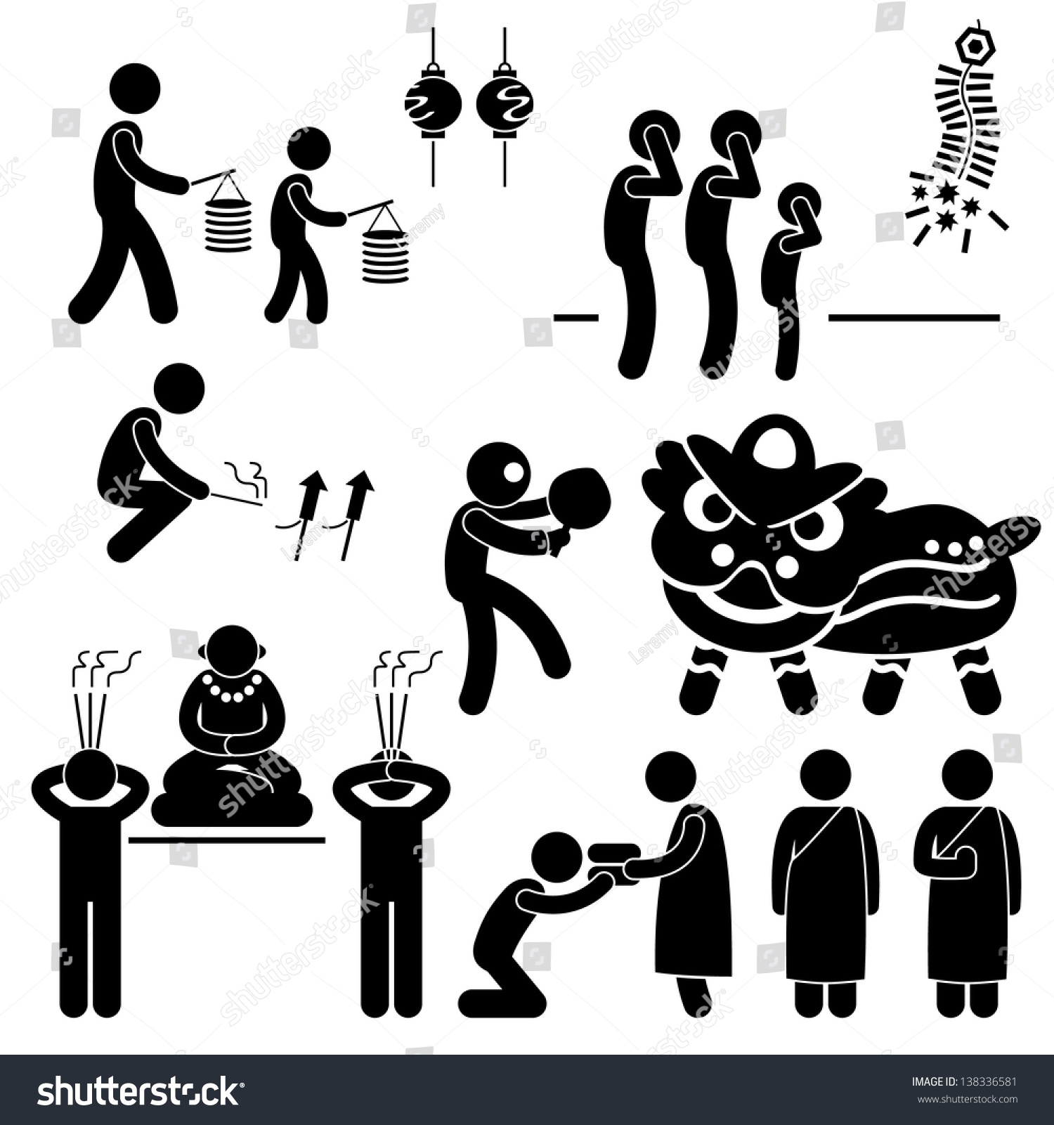 Chinese asian china religion culture tradition stock illustration chinese asian china religion culture tradition stick figure pictogram icon biocorpaavc