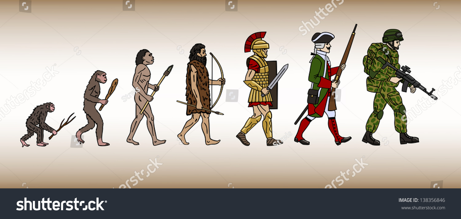 the evolution of weaponry through historic battles But such weapons are used as they are found a sharpened spear - useful for throwing or prodding, in war or the hunt - is in a different category the long story of the arms race begins the arms race: from 250,000 years ago: there are two obvious areas in which progress can be made in the improvement of primitive weapons, or flint technology.
