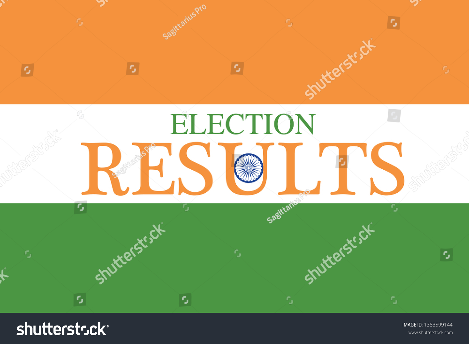 Indian Election Results 2019 Map Stock Vector (Royalty Free) 1383599144