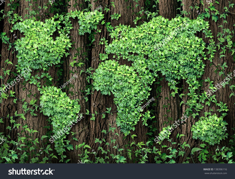Global Development Green Economy Business Concept Stock Illustration ...
