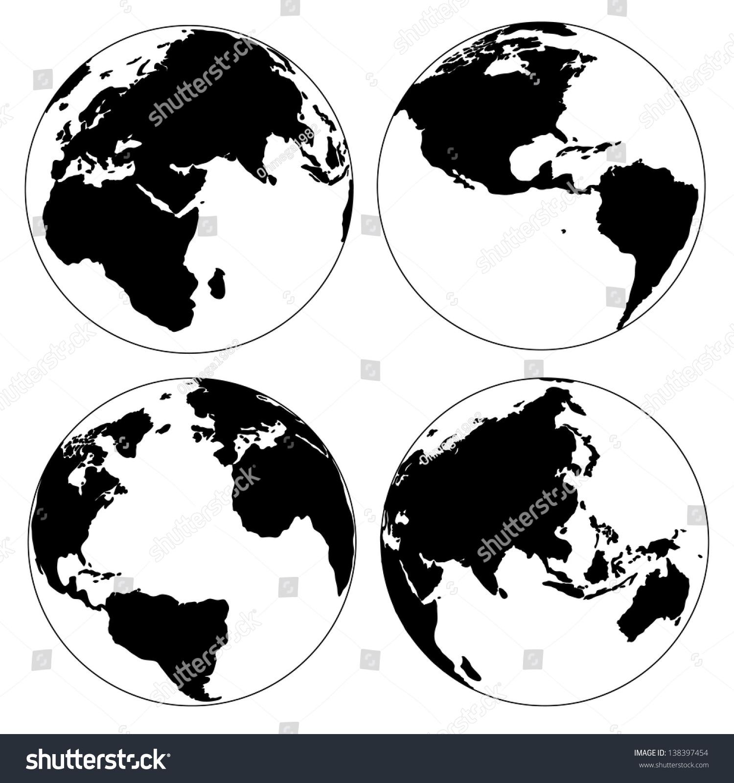 World map globe detail vector illustration vectores en stock world map and globe detail vector illustration eps 10 gumiabroncs Choice Image