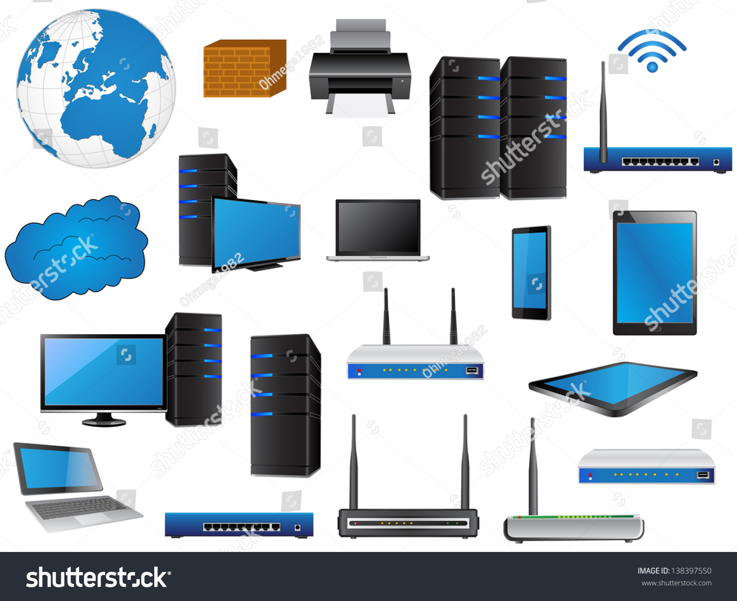lan network diagram icons vector illustrator eps 10 for business and technology concept - Network Diagram Icon