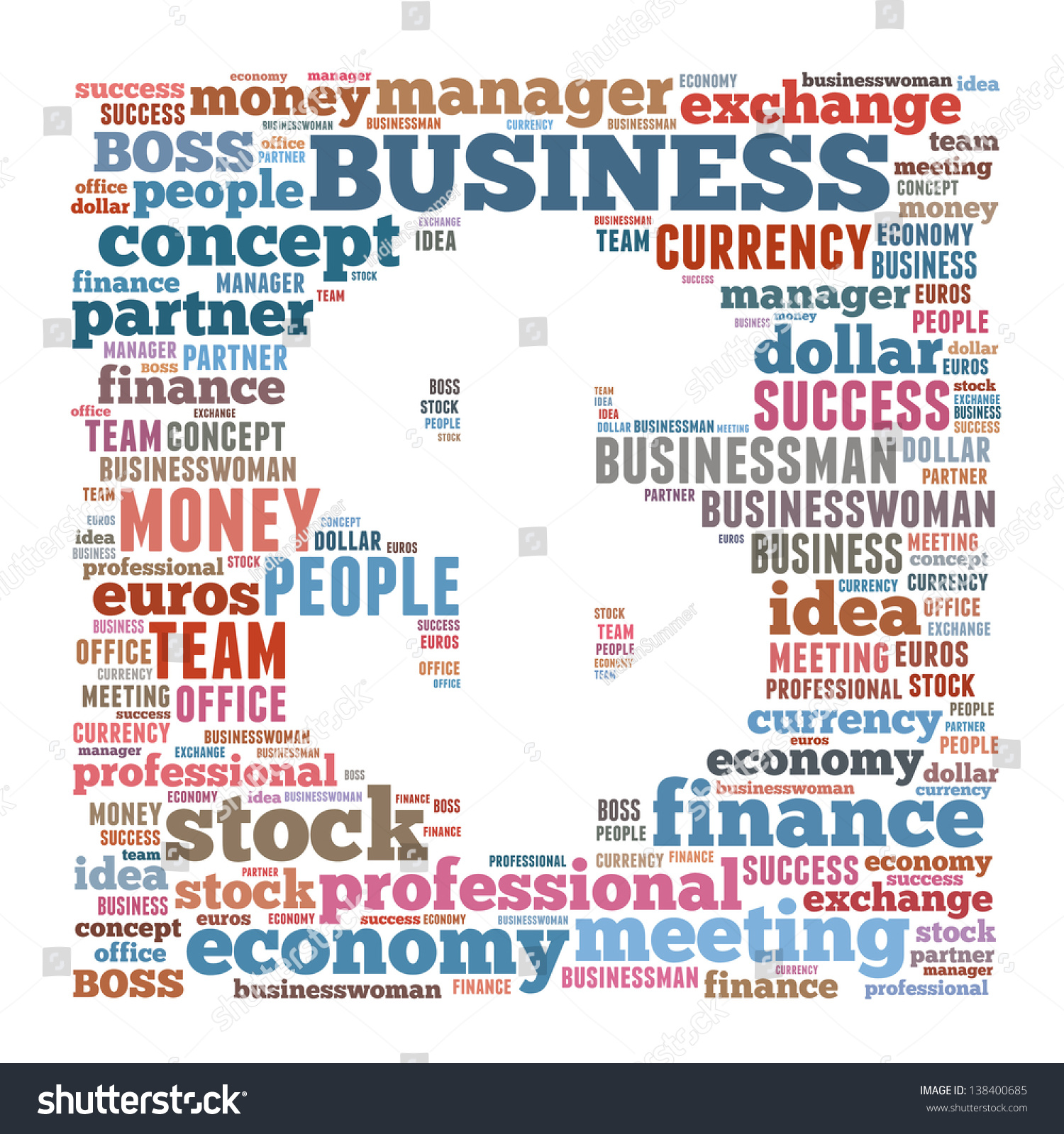 Finance Words: Business & Finance Related Word Cloud Dollar Symbol Stock
