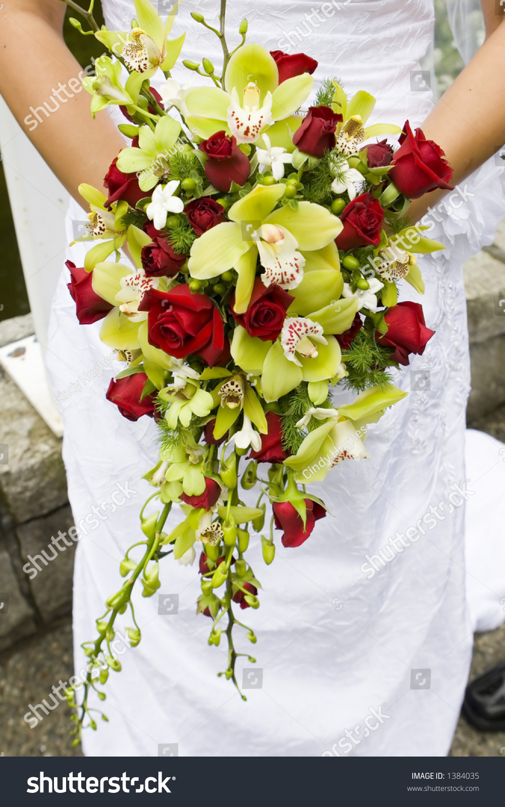 Gorgeous Orchid Roses Bouquet Real Flowers Stock Photo Edit Now