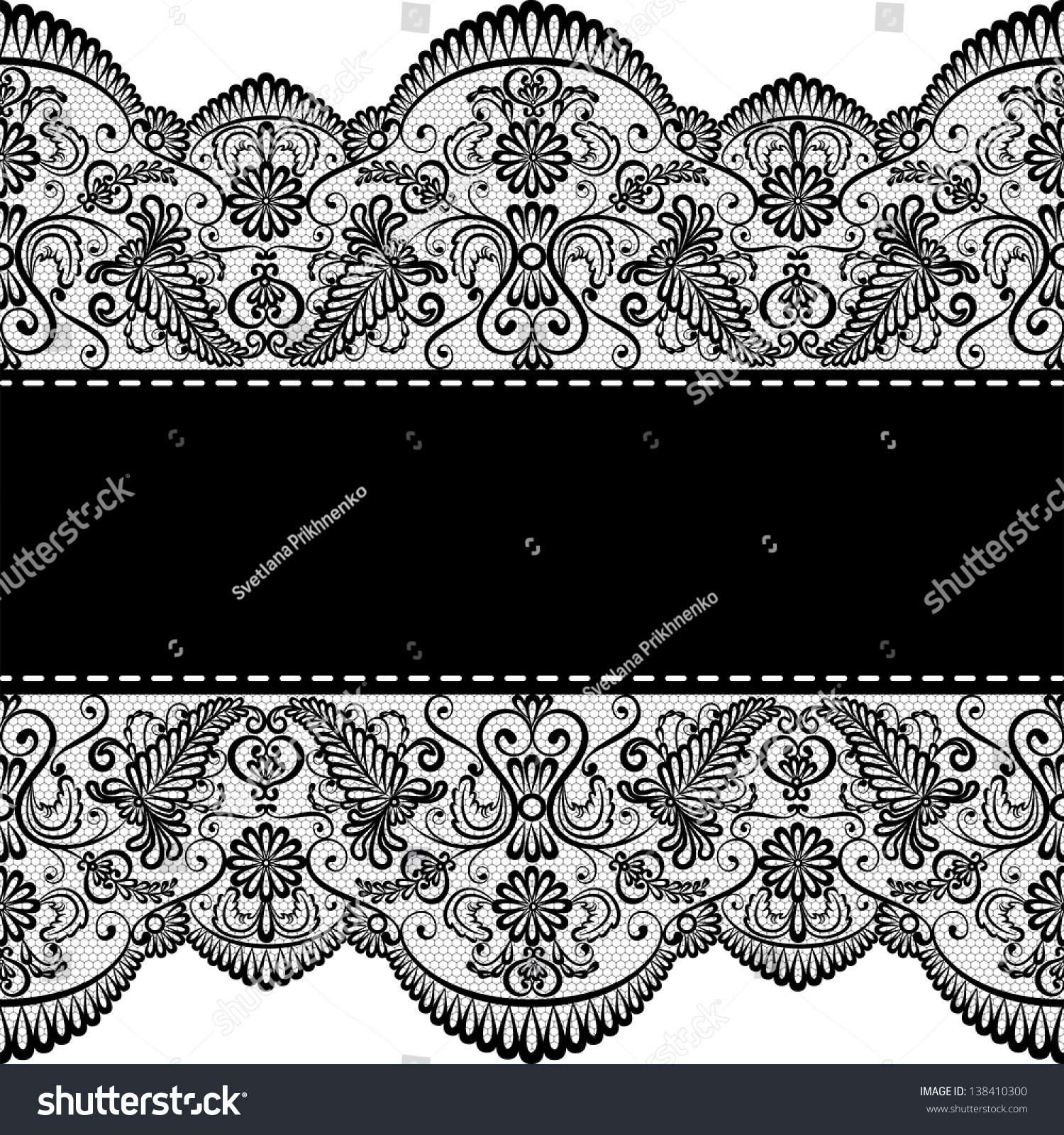 Template Wedding Invitation Greeting Card Lace Stock Vector (Royalty ...