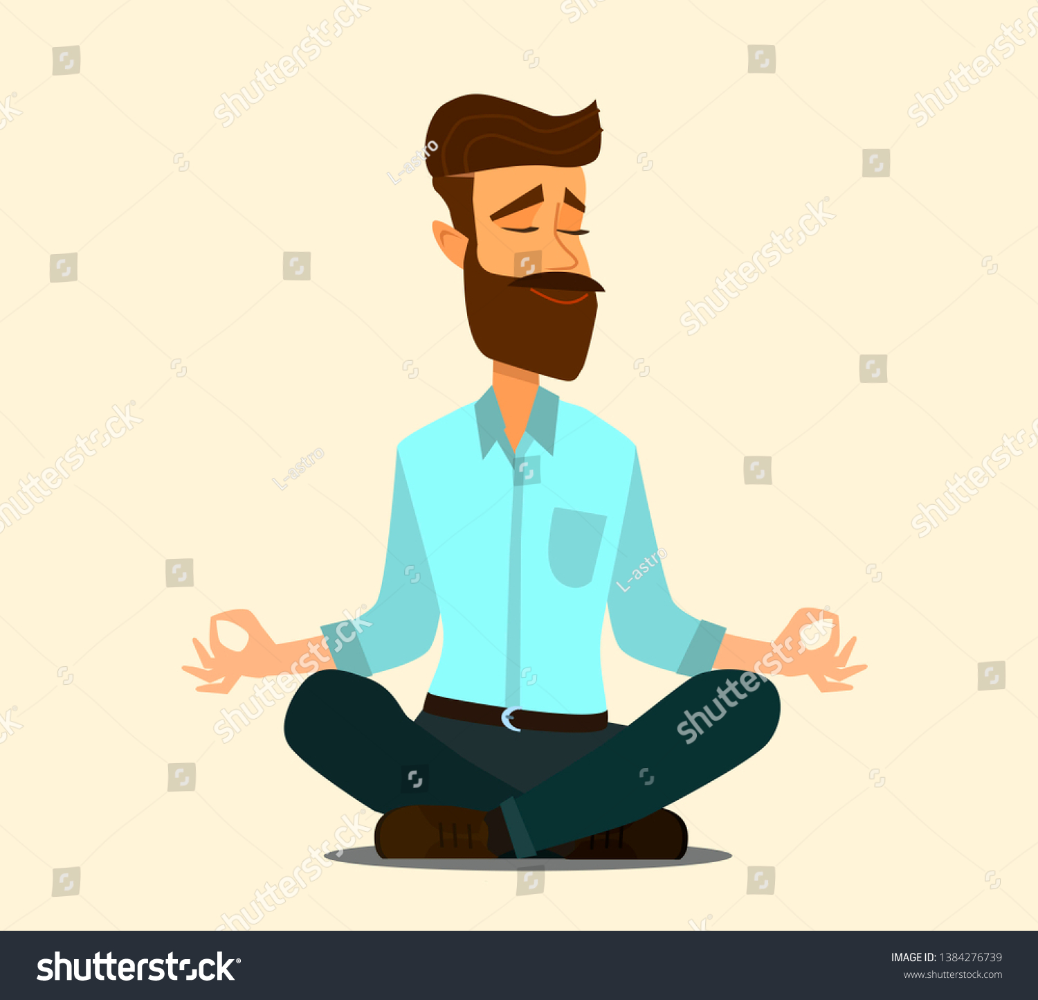Relaxing Stress Relief Workplace Cartoon Vector Stock Vector Royalty Free 1384276739