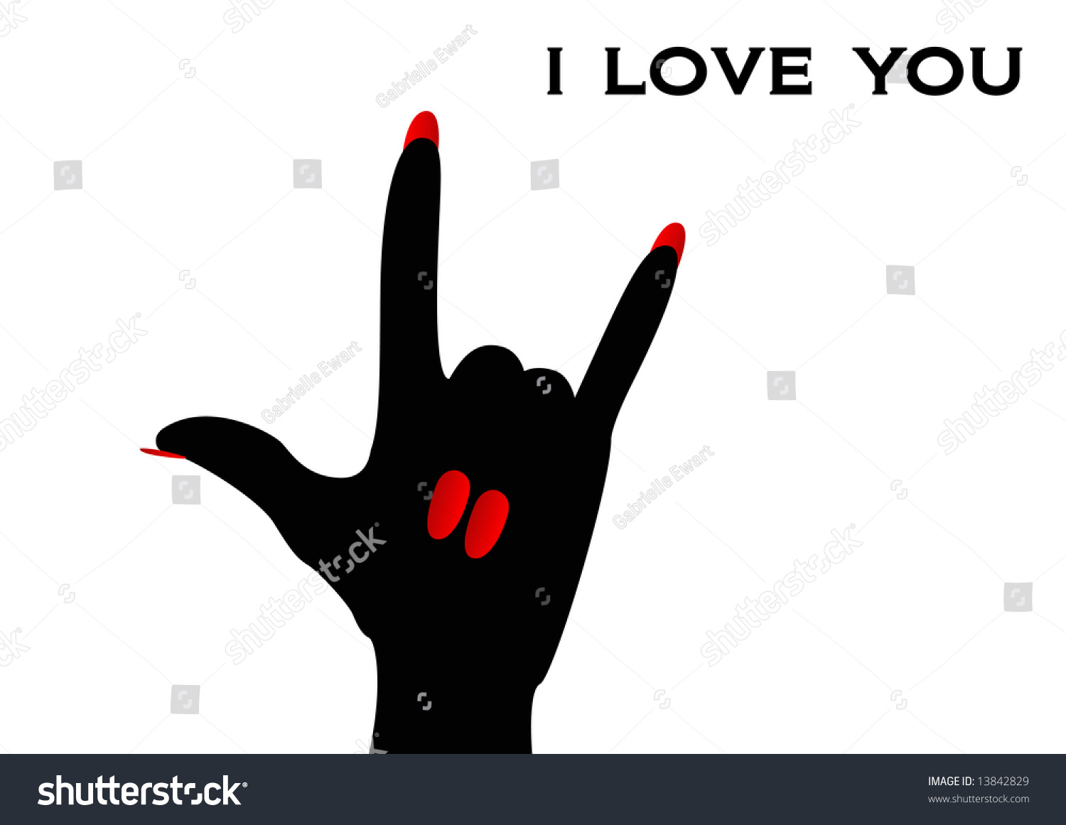 American sign language sign love you stock illustration 13842829 american sign language sign i love you biocorpaavc Image collections
