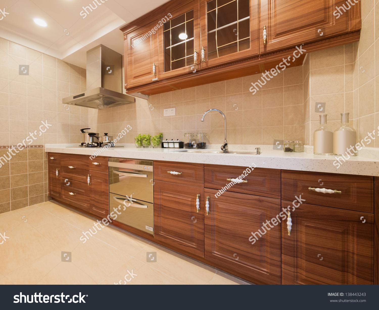 Kitchen classic cabinet stock photo 138443243 shutterstock for Classic kitchen cabinets inc
