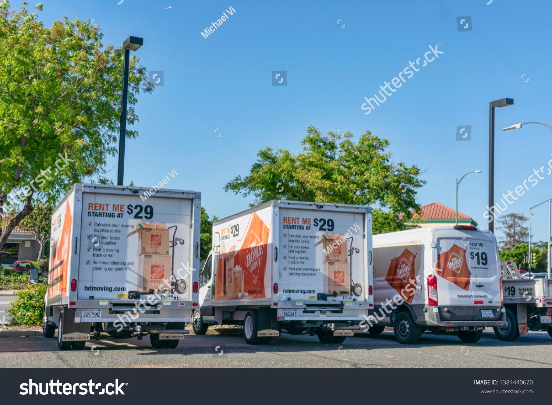 Home Depot Moving Box Trucks Vans Stock Photo Edit Now 1384440620
