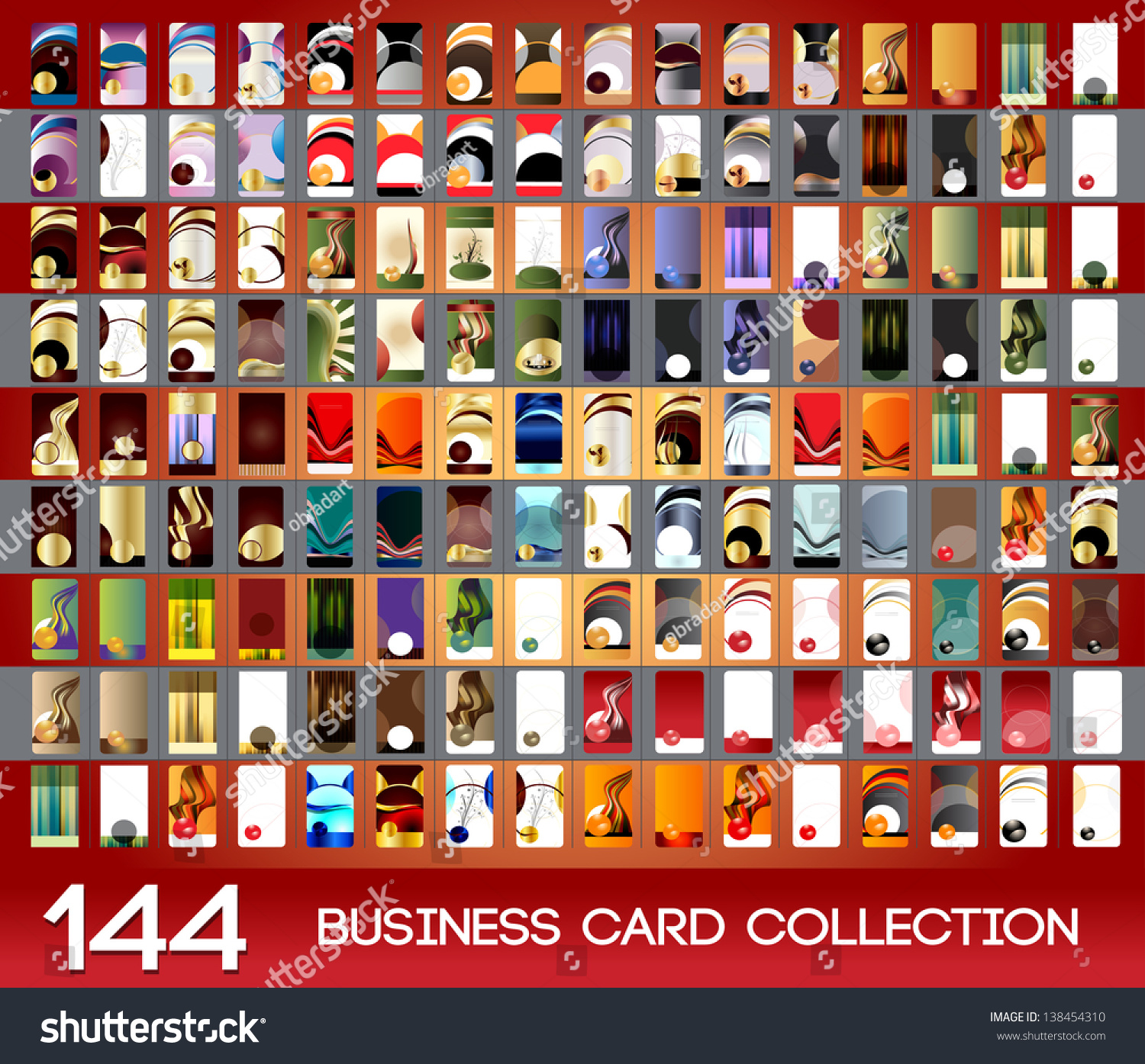 Vertical Business Cards Collection Stock Vector ...