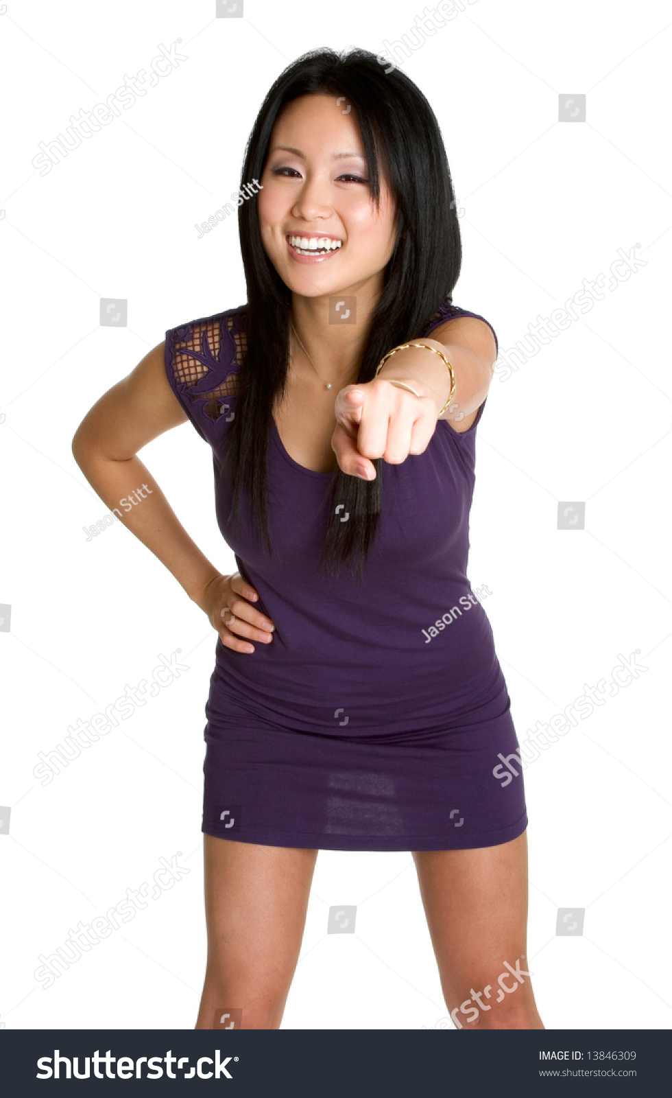 Young Woman Pointing And Laughing Stock Photo & More