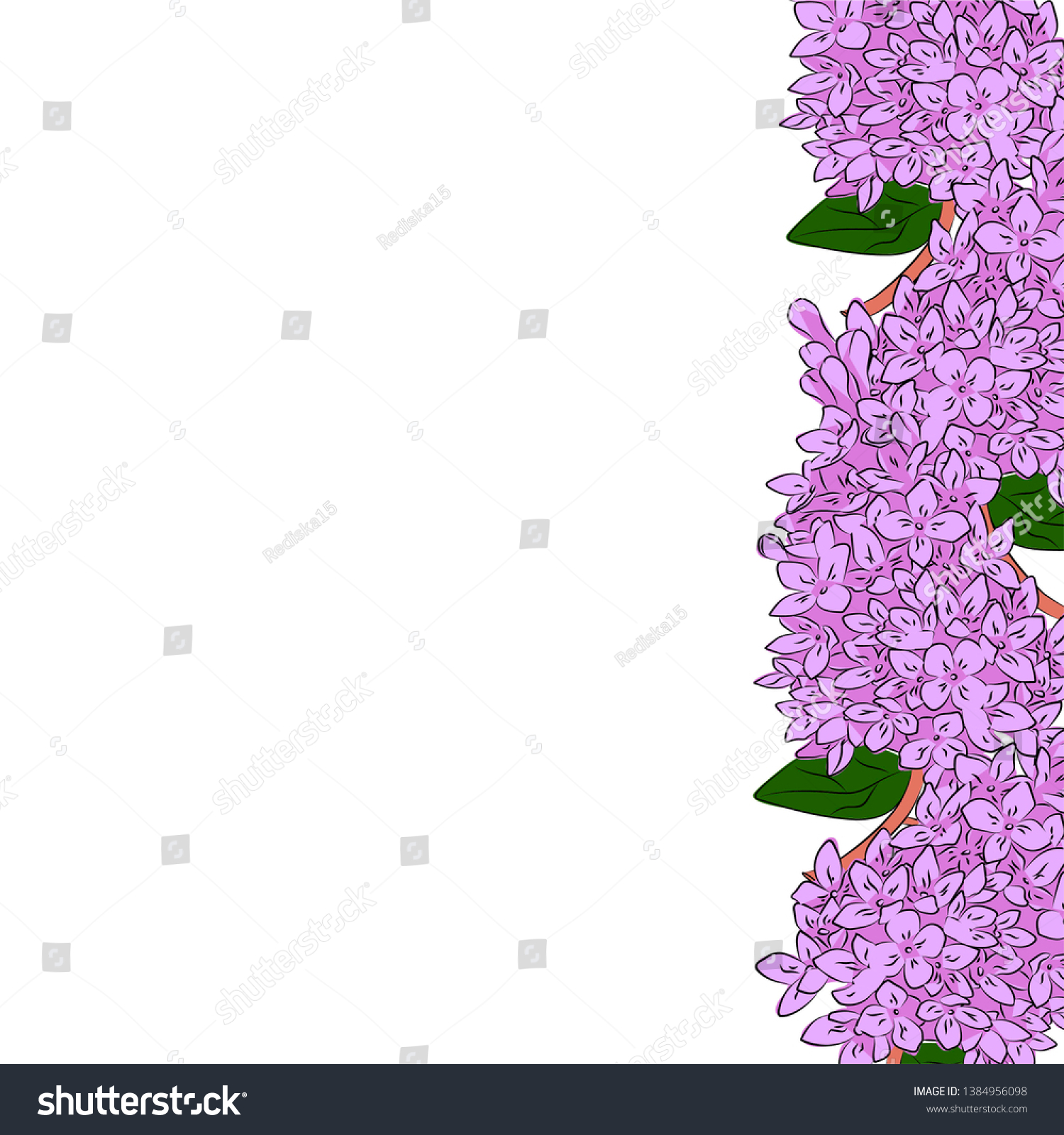 Simple Drawing Frame Flowers Stock Illustration 1384956098