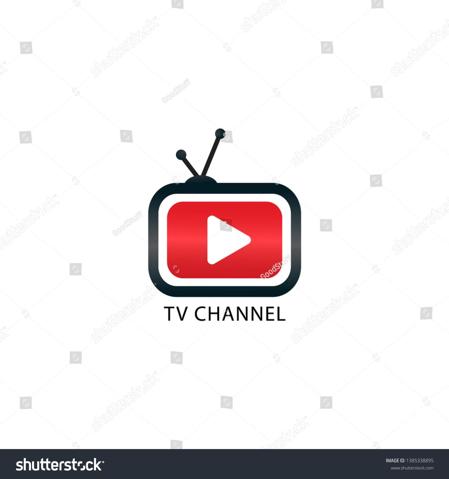 Youtube Instagram Tv Channel Logo Design Stock Vector (Royalty Free