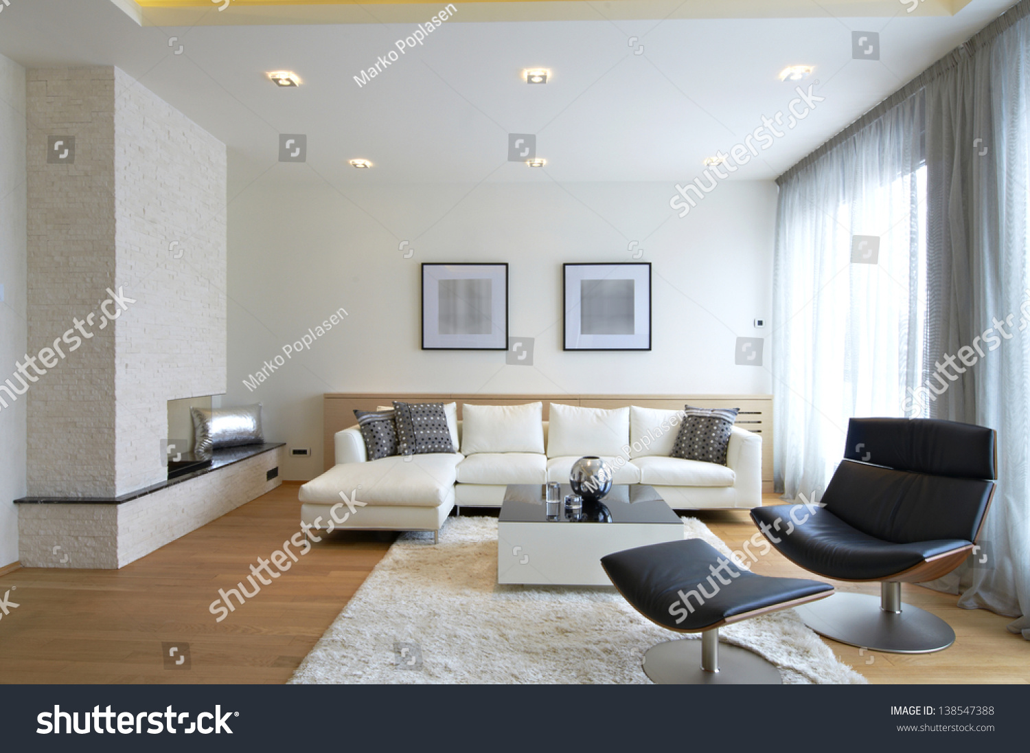 Modern Living Room Interior Stock Photo 138547388 - Shutterstock