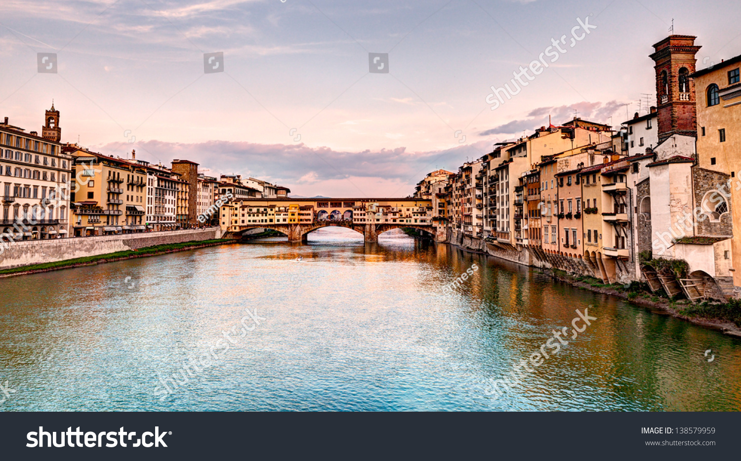 landscape sunset florence italy view famous stock photo edit now