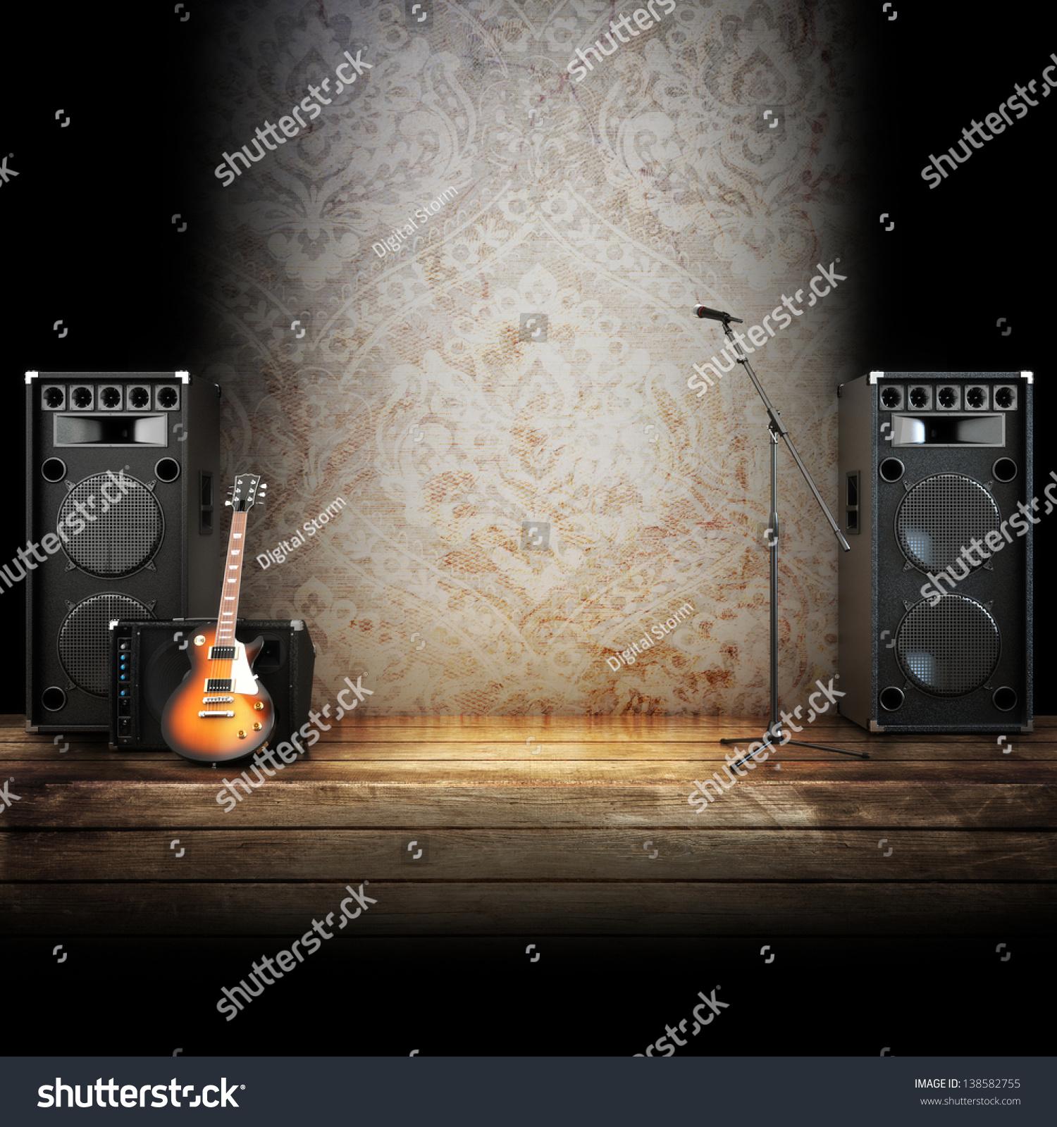 Stage lighting backdrop