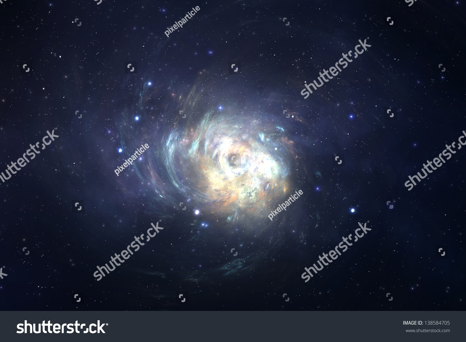 Spiral Galaxy Deep Space Unknown Universe Stock ...