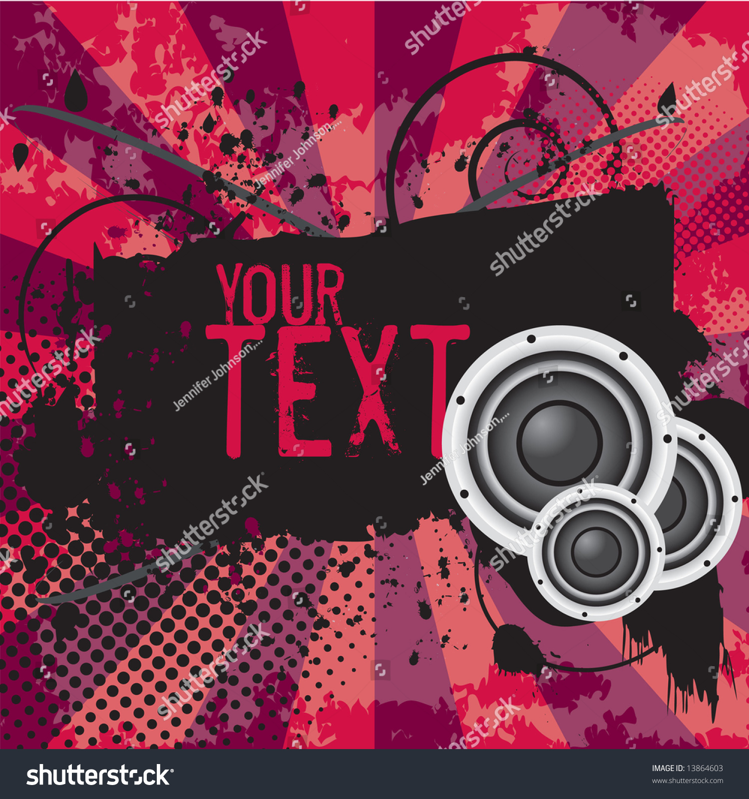 Grunge Banner Shield Space Add Your Stock Vector Royalty Free 13864603