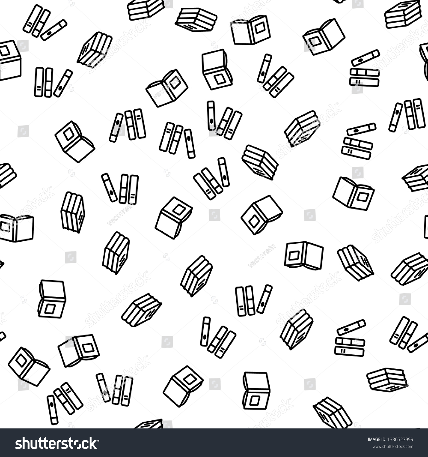 Library Book Dictionary Seamless Pattern Vector Stock Vector (Royalty Free)  1386527999