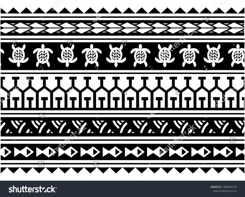 Tribal Polynesian Maori Tattoo Pattern Border Stock Vector