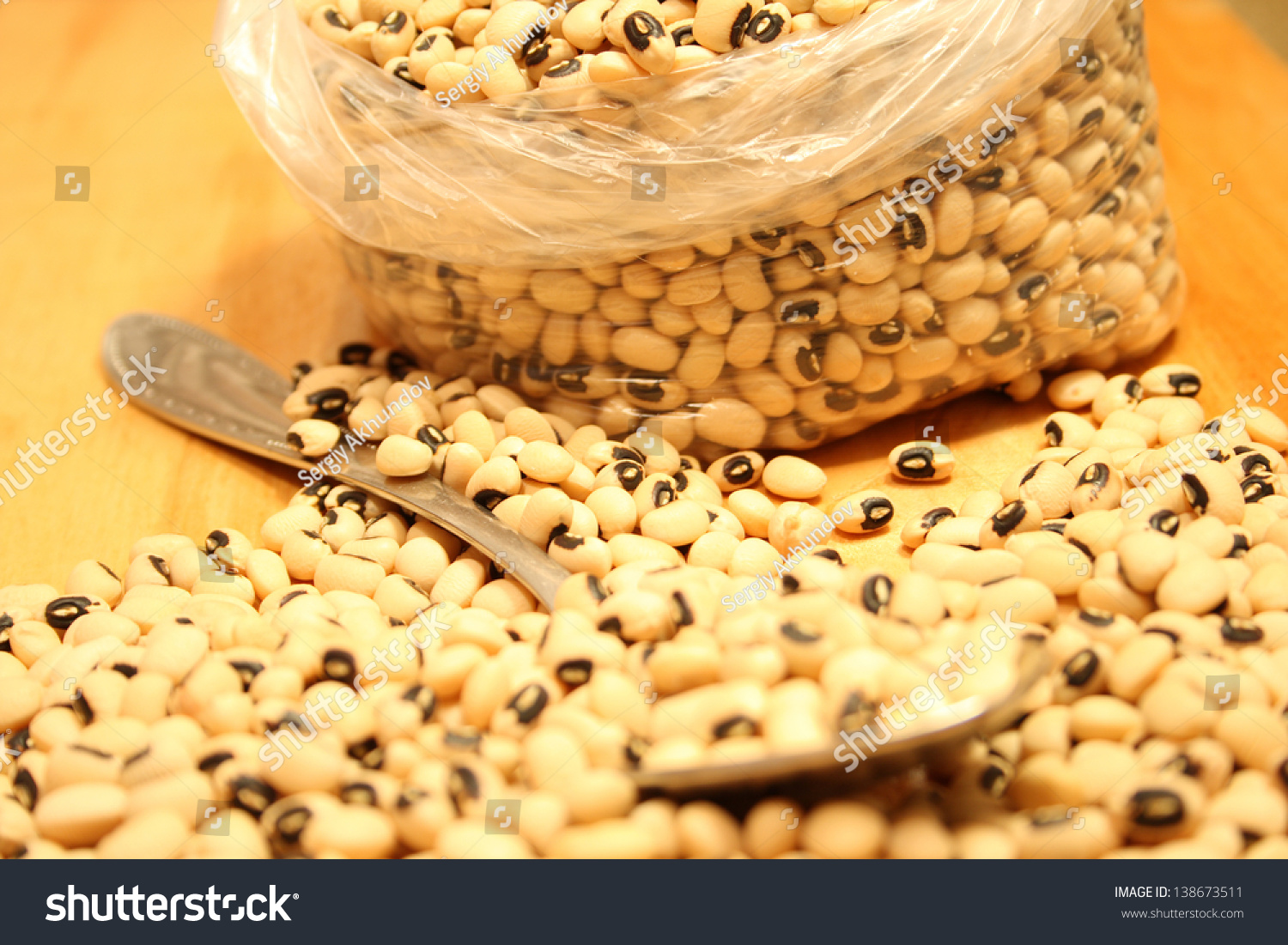 Yellow Kidney Beans Plastic Bag On Stock Photo Edit Now 138673511