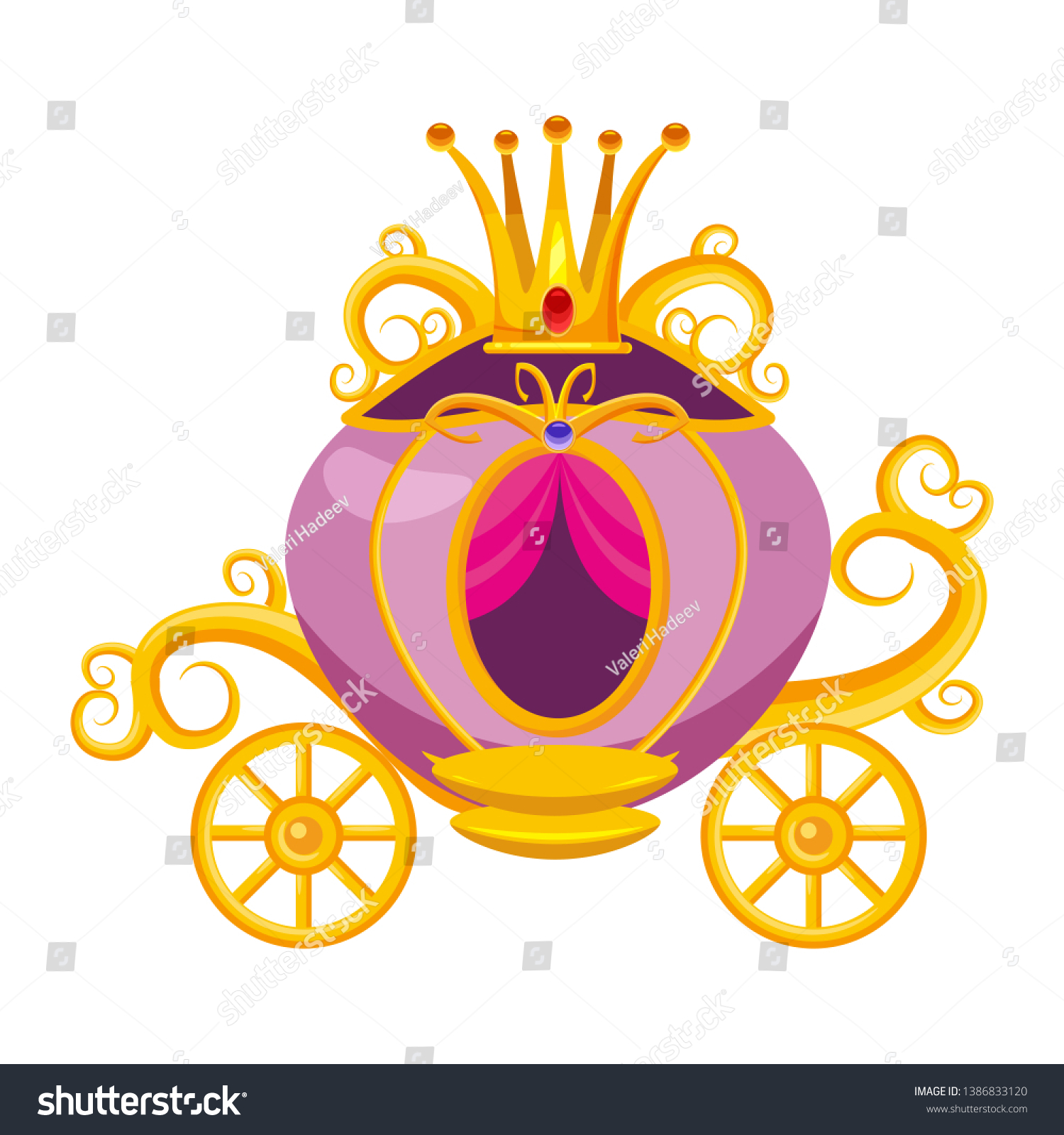 Princess Carriage Decorated Diamonds Crown Precious Stock Vector Royalty Free 1386833120 Almost files can be used for commercial. https www shutterstock com image vector princess carriage decorated diamonds crown precious 1386833120