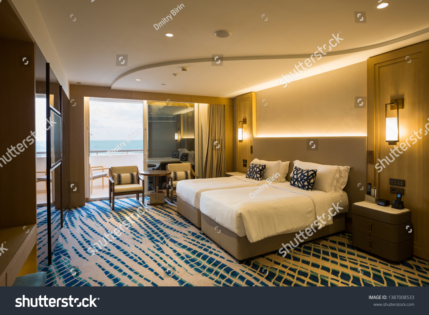 Hotel Room Interior Modern Hotel Seaside Stock Photo Edit Now 1387008533