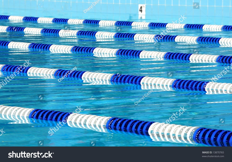 Racing Lanes In Swimming Pool Stock Photo 13870765 Shutterstock