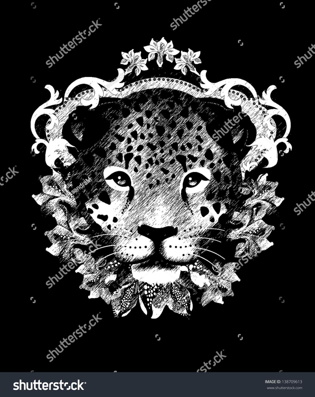 Shirt design elements - Leopard T Shirt Design All Elements Are Editable
