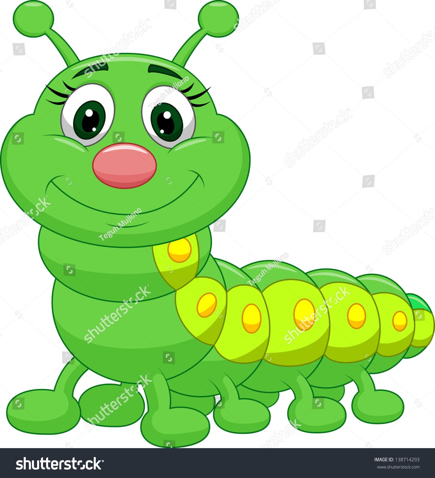 Cute Caterpillar Cartoon Stock Vector Illustration ... Гусеница Вектор