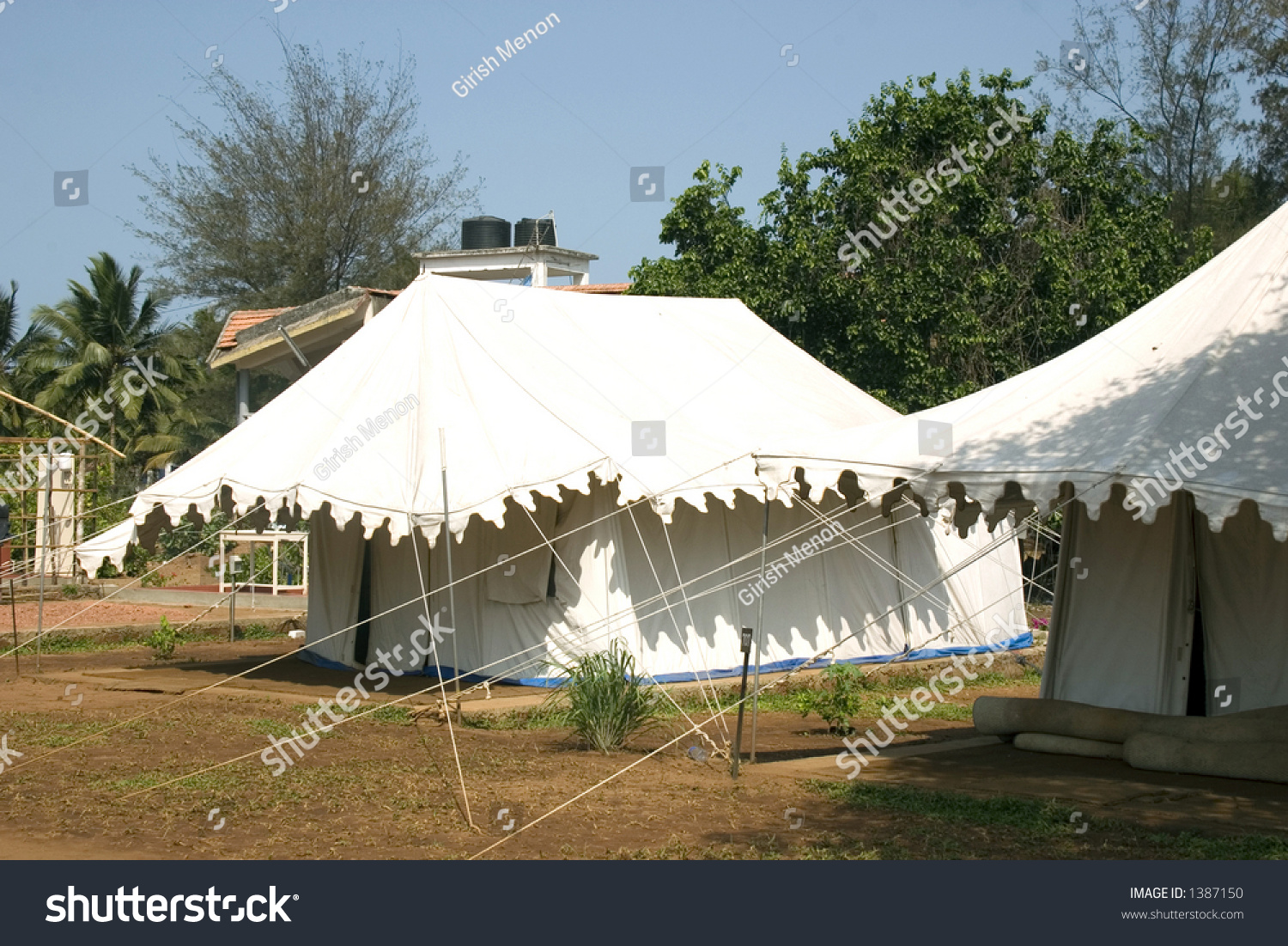 Tourists can live in tents like these during their 3 day long massage therapy run by & Tourists Can Live Tents Like These Stock Photo 1387150 - Shutterstock