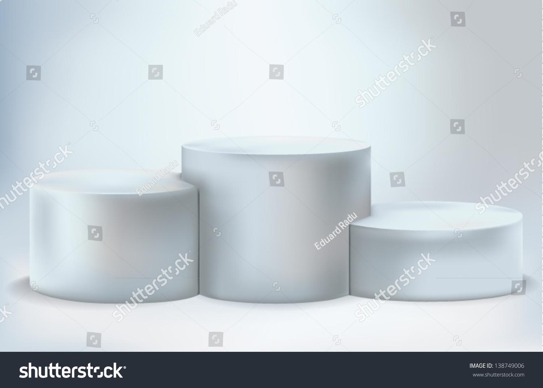 empty lighted podium stock vector illustration 138749006. Black Bedroom Furniture Sets. Home Design Ideas