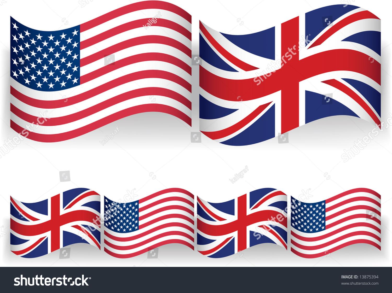 american british flags stock vector 13875394 shutterstock