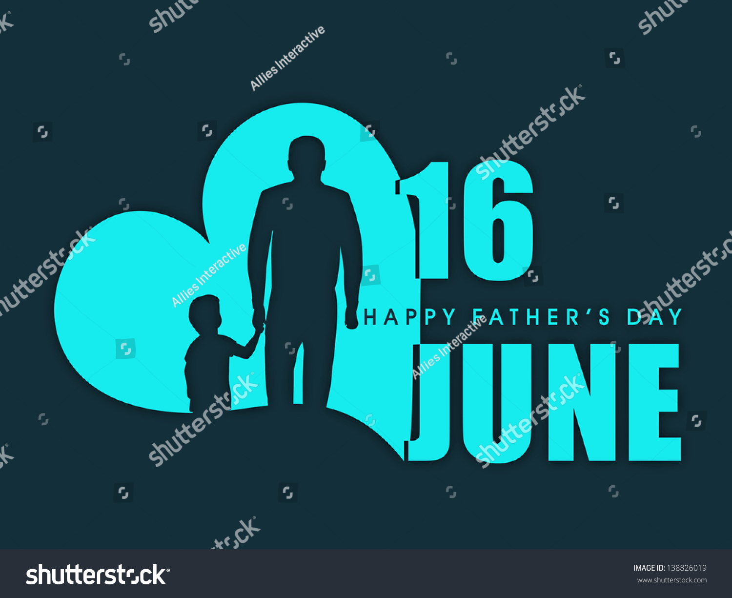 Happy Fathers Day Flyer Banner Poster Stock Vector 138826019 ...