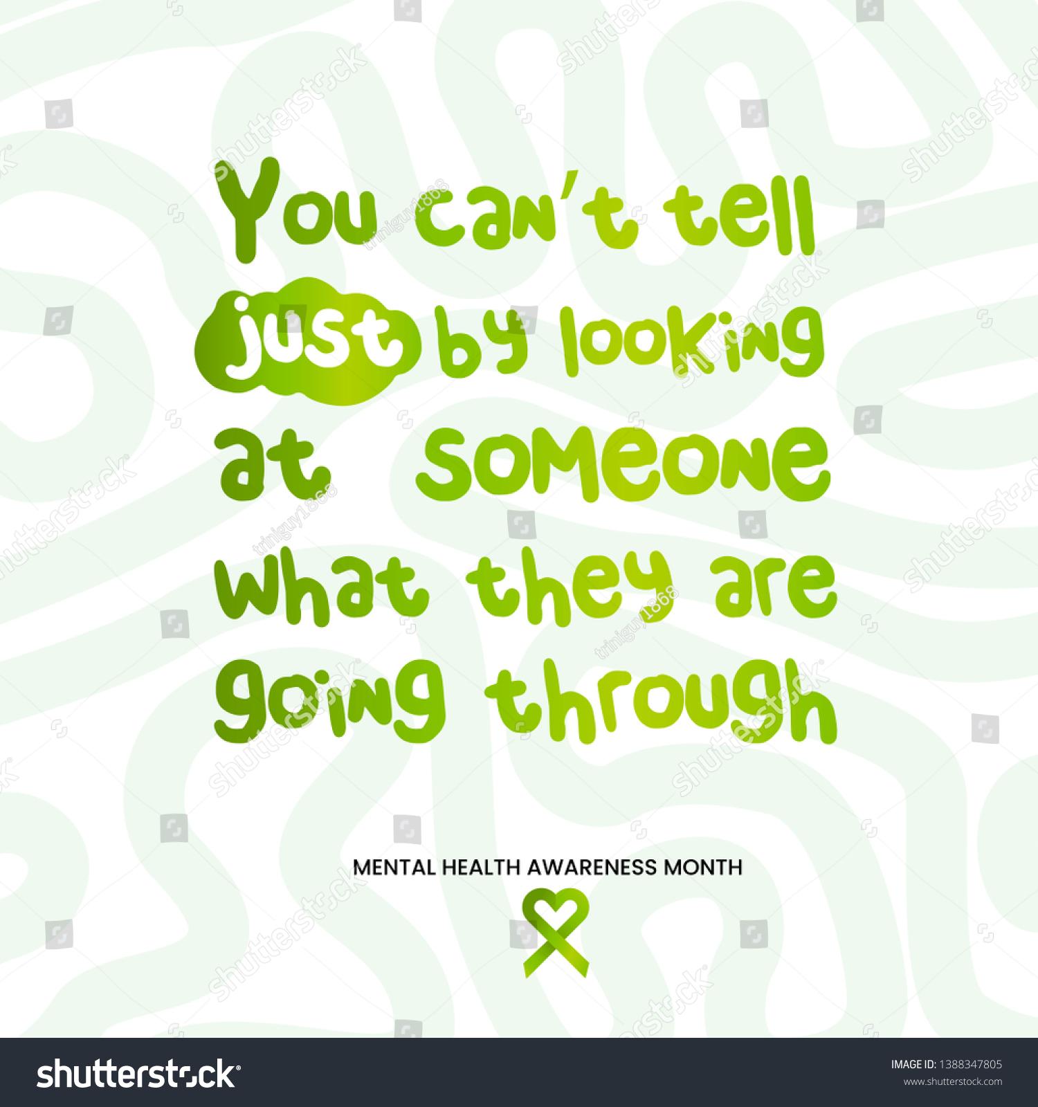 Mental Health Awareness Month Mental Health Stock Vector (Royalty ...